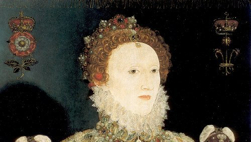 Elizabeth 1st painted by Hilliard 1575